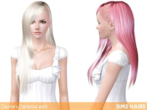 sims 4 half shaved side hair sims 3 half shaved hairstyles hairstylegalleries com