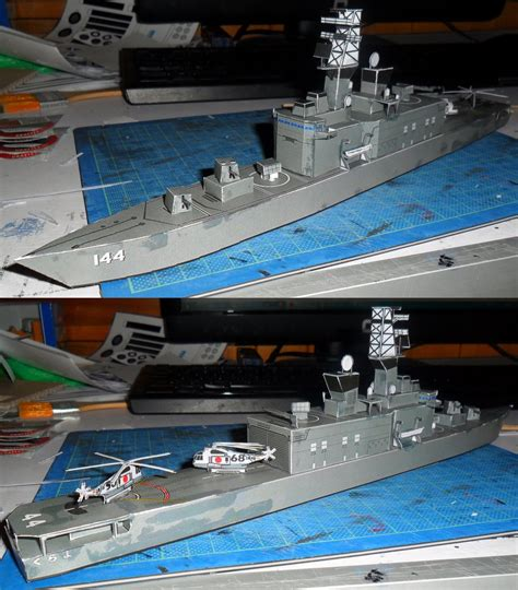 Boat Paper Craft - this ship paper model is the ddh 144 kurama one ship of