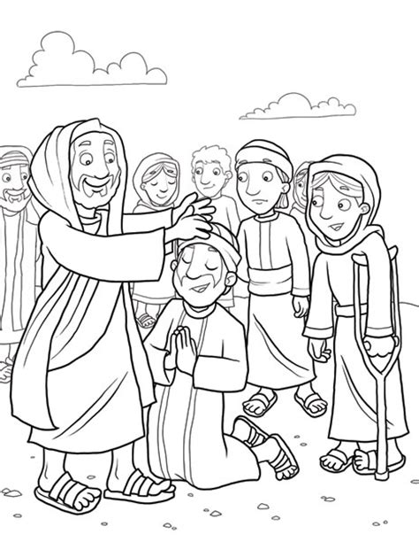 sunday school coloring pages jesus heals the sick jesus heals a leper jesus heals the sick 10 bible