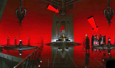 wars the throne room wars did you notice whats in snoke s throne room that hashtag show