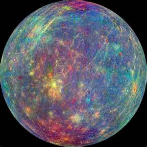 what color is mercury planet new spectroscopic images of mercury are a rainbow of