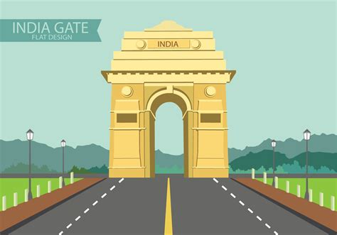 Wedding Gate Design India by India Gate On Flat Design Free Vector