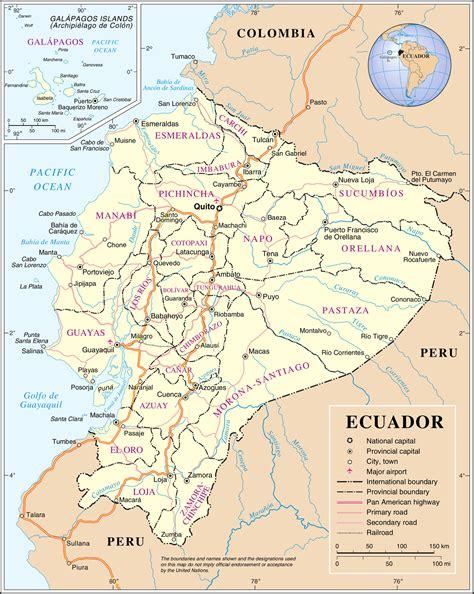 map ecuador south america maps of ecuador map library maps of the world
