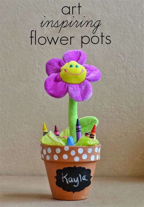 flower pot crafts for diy crayon sidewalk chalk flower pots for diy