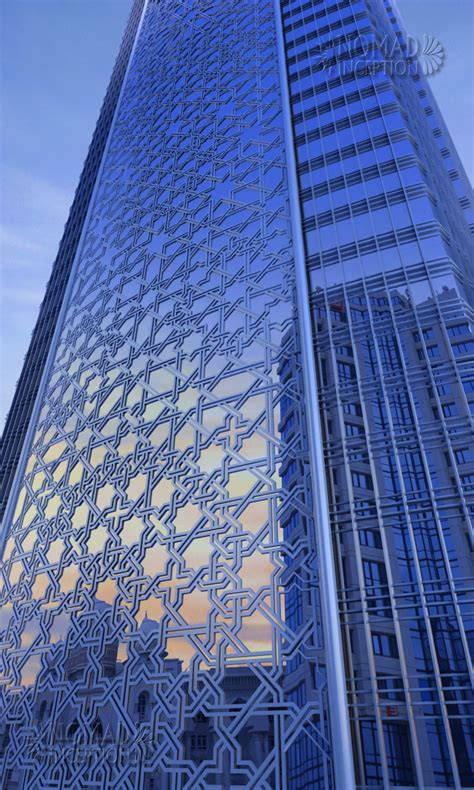 Islamic Pattern Facade | islamic geometric design on tower fa 231 ade modern islamic