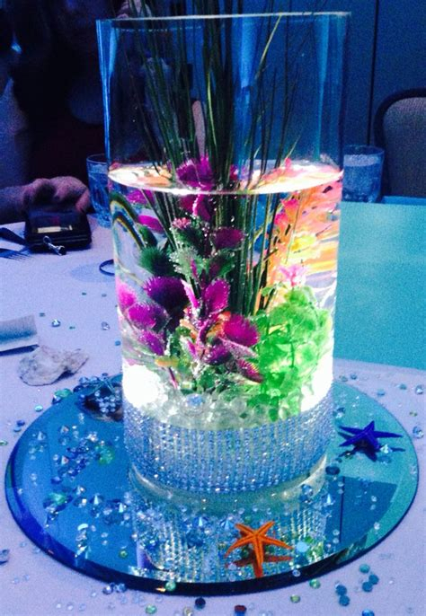 the sea centerpieces 17 best images about sweet 16 on snowflakes