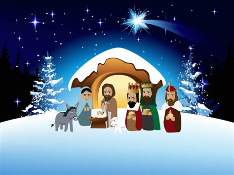 clipart presepe nativity vector vector graphics freevector