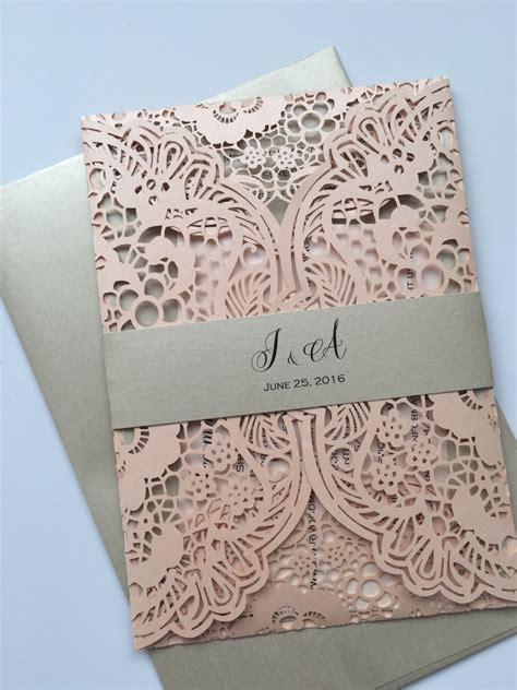 Wedding Invitations With Lace by Laser Cut Wedding Invitations