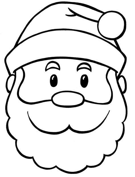 printable santa face santa face coloring pages az coloring pages