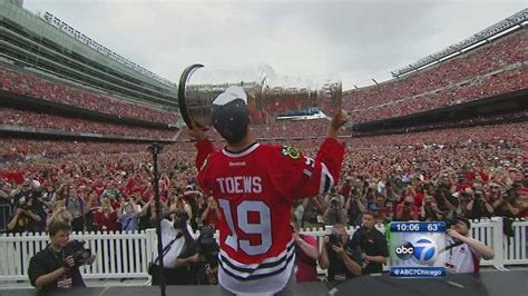 stanley chicago blackhawks celebrate with stanley cup at u s cellular