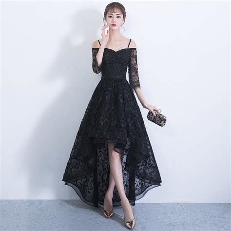 lace boat neck black open back maxi dress black long evening 3 4 sleeve dress evening dresses dressesss