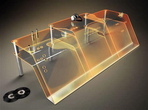 tavolo consolle dj consolle in plexiglass trasparente per deejay