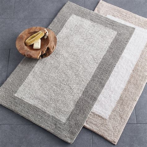 bathroom rug organic cotton belgium linen bath rug the company store