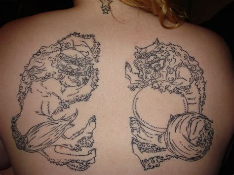 shisa tattoo image detail for shiisaa line only by bergamot