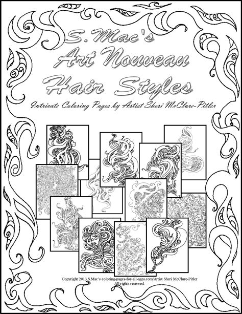 S Mac Coloring Pages by S Mac S Fantastical Cats Downloadable Coloring Book S