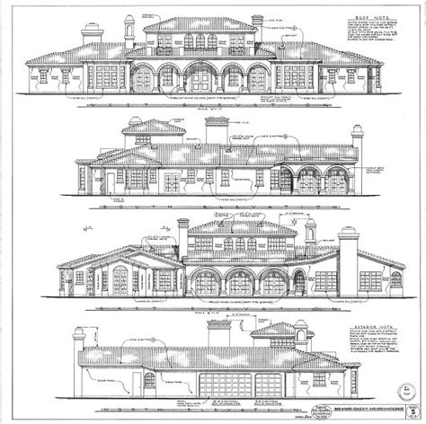 floor plans and elevation drawings detailed and unique house plans