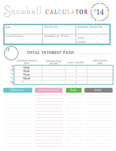Snowball Debt Plan Worksheet by 17 Best Images About Budgets On Free Printable
