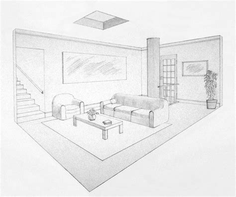 Two Point Perspective Living Room by 2 Point Perspective Living Room Centerfieldbar