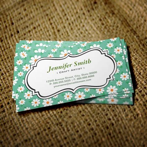Craft Business Card Template by Kindergarten Green Sided