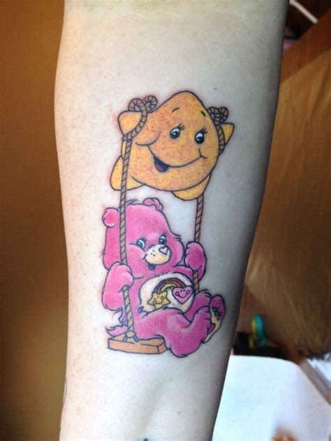 my care bear tattoo tattoos pinterest