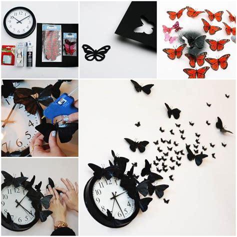 creative wall decor ideas diy youtube creative ideas diy butterfly clock wall art