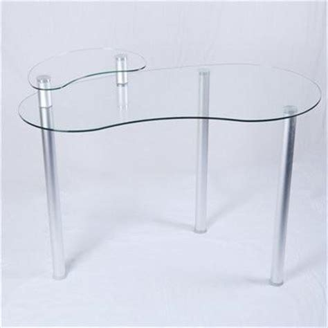 Clear Glass Corner Desk With Monitor Stand Optional Glass Desk Corner