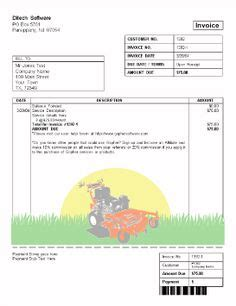 gardening invoice template lawn care and landscaping services create your