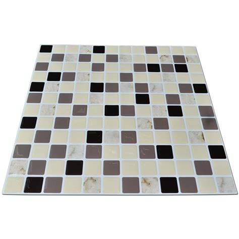 mosaic stick on backsplash peel stick backsplash mosaic 11 2 x 12in 6 pcs 10 67 sq ft
