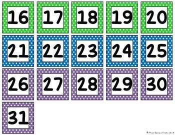 printable numbers 1 31 printable numbers 1 31 by phys ed is a hoot teachers pay