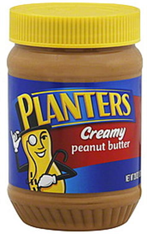 Planters Peanut Butter Nutrition Facts by Planters Peanut Butter 28 0 Oz Nutrition