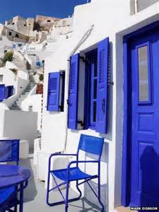 blue and white house your pictures greece bbc news