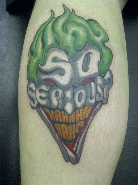 why so serious joker head tattoo design 2 tattoos book