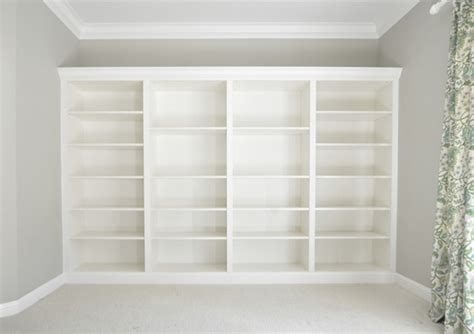 making ikea cabinets look built in built in bookcases made of ikea billy decoist