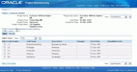 Oracle Projects by Oracle Project Manufacturing Implementation Guide