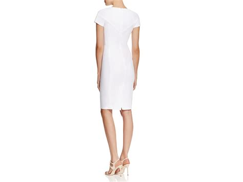 french connection whisper light sheath dress french connection whisper light sheath dress in white lyst
