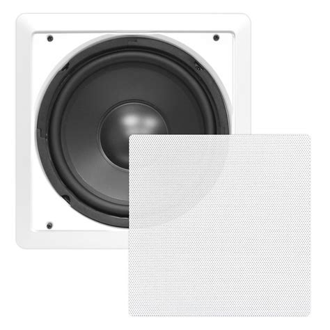 In Ceiling Powered Subwoofer by Pylehome Pdiws8 Home And Office Subwoofers Midbass