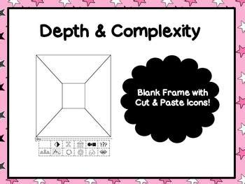 student frame template with cut out depth complexity