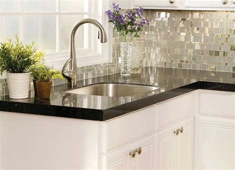 recycled glass backsplashes for kitchens how to select the right granite countertop color for your