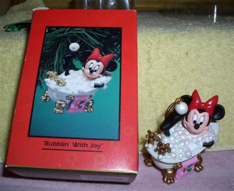 mouse in bathtub disney minnie mouse in bath tub with bubbles ornament rena s collectibles