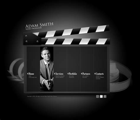 Producer Website Template Video Producer Html5 Template