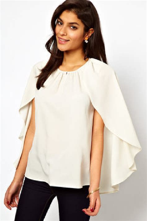 Cape Sleeve Blouse fashion trend cape sleeves