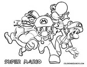 Super Mario Bros Coloring Pages On Bookinfo sketch template