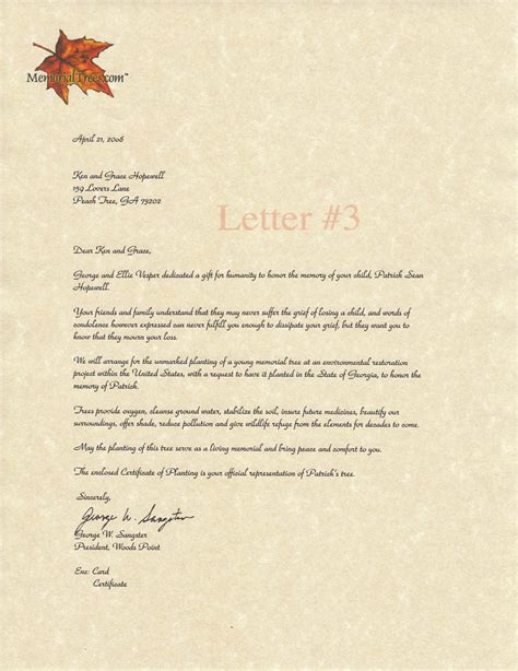 memorial letter template 28 images 57 free sympathy