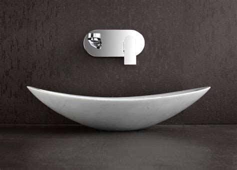 Modern Basins Bathrooms Nero White Marble Above Counter Basin Modern Bathroom Basins Brisbane By Deko