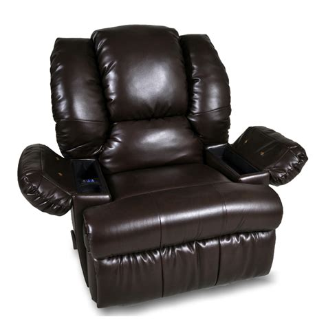 recliner with cooler in armrest canton smart blend recliner
