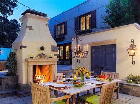 Instant Fireplace by How To Design The Outdoor Dining Space