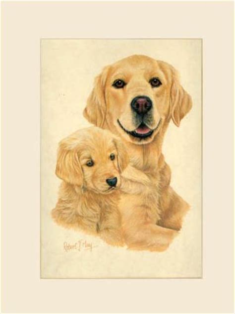 original golden retriever original golden retriever pup painting
