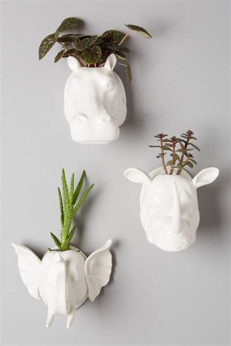 elephant wall planter 50 unique animal planters to help you bring nature indoors