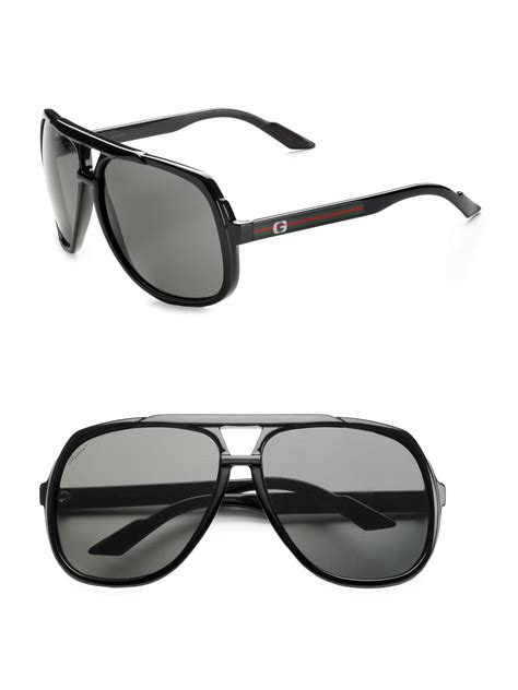 Sunglasses Gucci Original 1 gucci navigator sunglasses in black for lyst