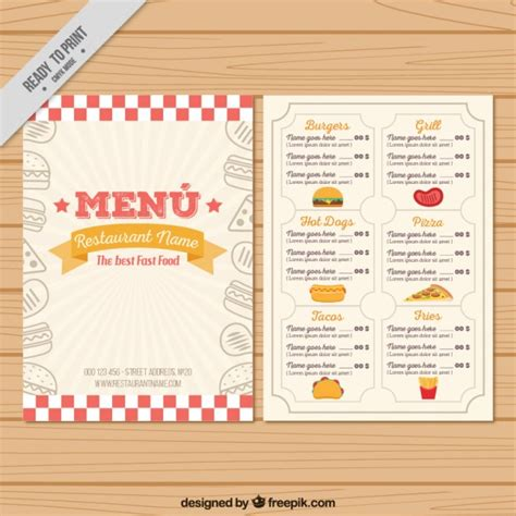 vintage menu templates www pixshark com images